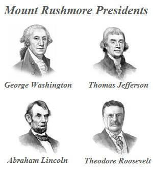 mount rushmore presidents forkids. Black Bedroom Furniture Sets. Home Design Ideas